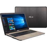 "Ноутбук Ноутбук ASUS R540SA-XX438D 15.6"" 1366 x 768 глянцевый, Intel Celeron N3060 1600 МГц, 4 ГБ, 500 Гб (HDD), Intel HD Graphics 400, DOS, цвет крышки коричневый, цвет корпуса золотистый"